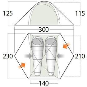Vango Halo Pro 200 Tent, pamir green